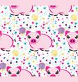 pig pattern design vector image vector image