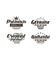 premium genuine original authentic logo or vector image vector image