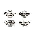 premium genuine original authentic logo vector image vector image