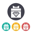present diamond icon vector image