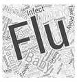 Protect your newborn from the flu Word Cloud vector image vector image