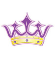 queen crown vector image vector image