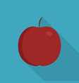 red apple icon in flat long shadow design vector image vector image