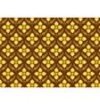 Retro Thai Flower Pattern on Brown Background vector image