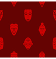 Seamless background with African ritual masks vector image vector image