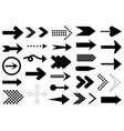 set of different arrows vector image vector image