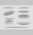set shadow ball circle round bottom floor vector image