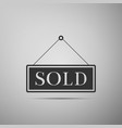 sold sign on grey background sold sticker vector image