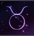 space symbol of taurus of zodiac and horoscope vector image vector image