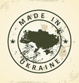 Stamp with map of Ukraine vector image