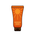 sun protection cream tube summer vector image vector image