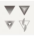 Triangles set Geometric vector image vector image