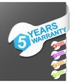 warranty sign vector image vector image