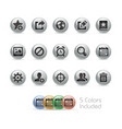 web and mobile icons 2 - metal round series vector image vector image
