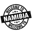 welcome to namibia black stamp vector image vector image