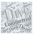 What You Should Know About Commercial Diving Word vector image vector image