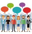 white background with full body group people vector image vector image
