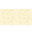 white pattern with gold blossom vector image vector image
