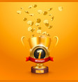 winner cup number one vector image vector image