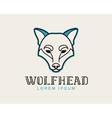 Wolf head logotype vector image vector image