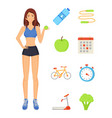 woman sportive lady icons vector image vector image