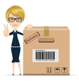 Women in Business - delivery service vector image vector image