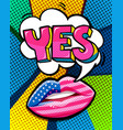 yes word bubble vector image vector image