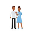 young afro american family with newborn baby vector image