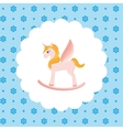 Rocking Horse Unicorn vector image