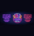 casino royal neon sign neon logo emblem gambling vector image
