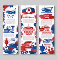 banners for soccer or football game club vector image