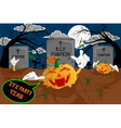 halloween cartoon resurrect pumpkin for celebratio vector image
