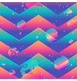 abstract zigzag pattern with grunge effect vector image vector image