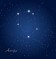 auriga constellation at starry night sky vector image vector image