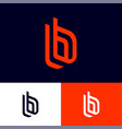 b letters double monogram vector image vector image