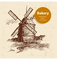 Bakery sketch background vector image vector image
