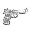 beretta 92 pistol sketch vector image vector image