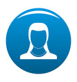 best woman user icon blue vector image vector image