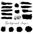 black ink borders brush strokes stains banners vector image vector image