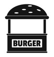 burger trade icon simple style vector image