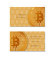 business card of bitcoin company vector image vector image