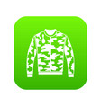 camouflage jacket icon digital green vector image vector image