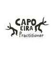 capoeira fighting dance vector image vector image