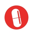 capsule medical isolated icon vector image vector image