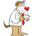 Cartoon Dog Doctor vector image vector image