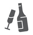 champagne glyph icon alcohol and drink bottle vector image vector image