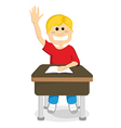 Child with hand up vector image vector image