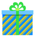 christmas gifts in colorful boxes tied with ribbon vector image