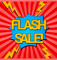 comic flash sale advertising concept vector image vector image