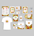 corporate identity items for fruit company vector image vector image